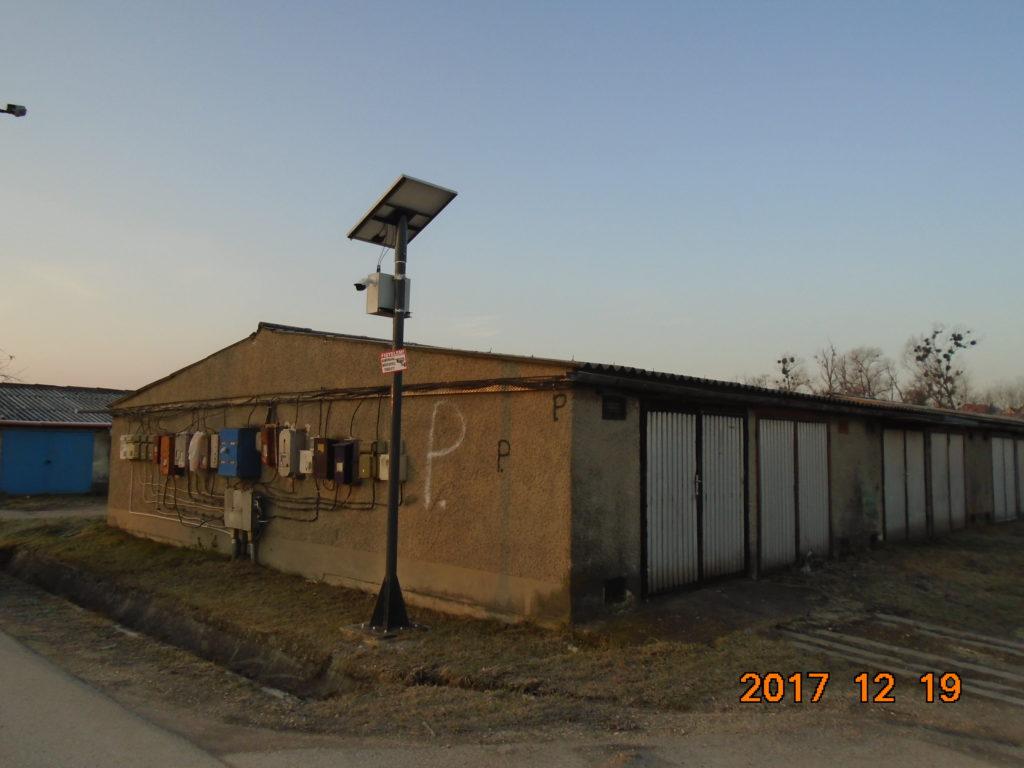 Szigetüzemű (napelemmel működő) térfigyelő kamerás rendszer