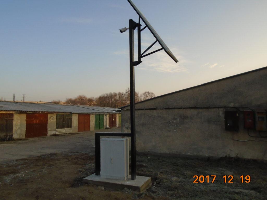 Napelemmel működő térfigyelő kamerás rendszer